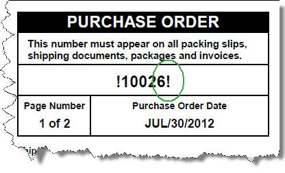 Purchase Order Numbers when previewing