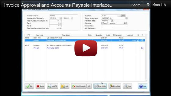 Click to watch Invoice Approval video tutorial