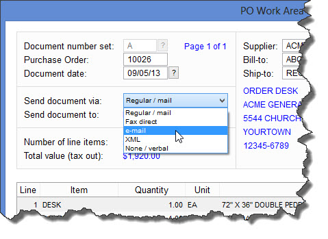 electronic purchase order system free