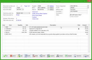 PO Software Screen Shots