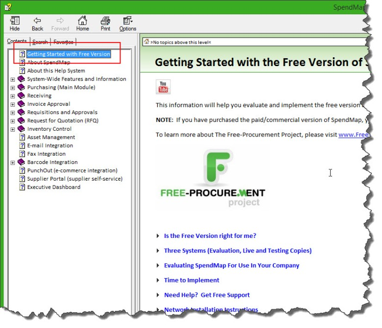 Getting Started Docs for free PO software